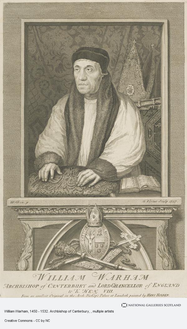 George Vertue, William Warham, 1450 - 1532. Archbishop of Canterbury