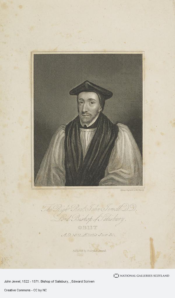 Edward Scriven, John Jewel, 1522 - 1571. Bishop of Salisbury