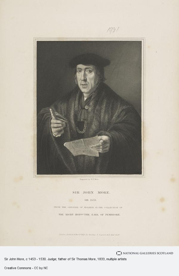 W.T. Mote, Sir John More, c 1453 - 1530. Judge; father of Sir Thomas More