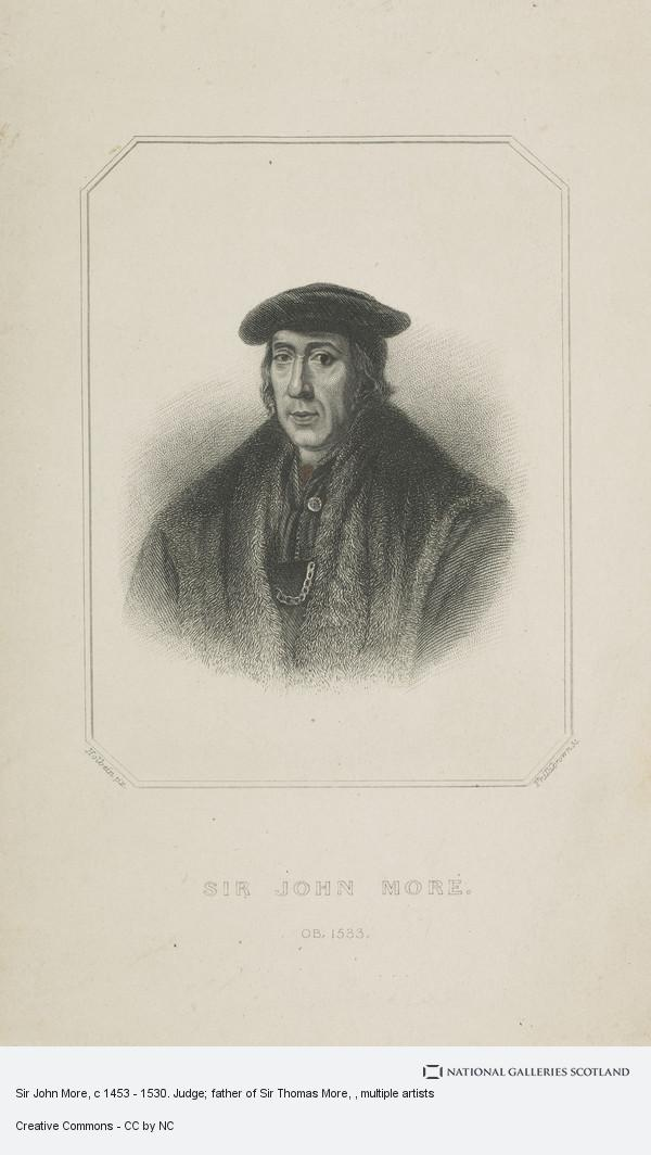 Phillibrown, Sir John More, c 1453 - 1530. Judge; father of Sir Thomas More