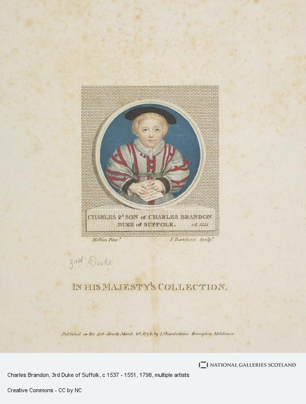 Francesco Bartolozzi, Charles Brandon, 3rd Duke of Suffolk, c 1537 - 1551