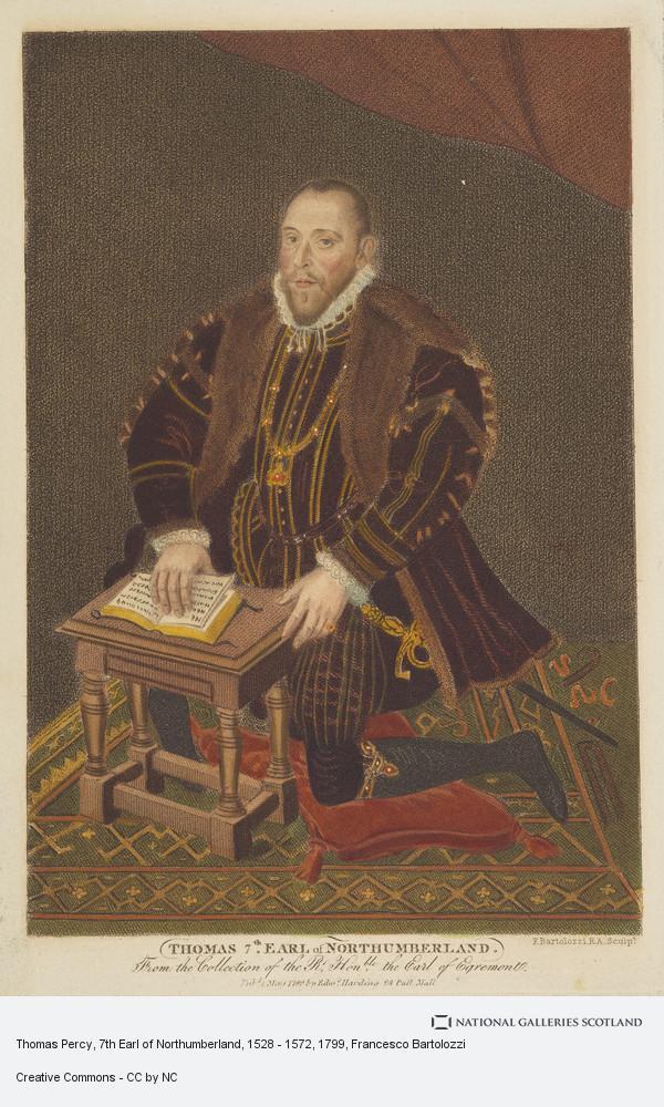 Francesco Bartolozzi, Thomas Percy, 7th Earl of Northumberland, 1528 - 1572
