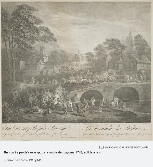 Jean-Antoine Watteau, The country people's revenge; La revanche des paysans