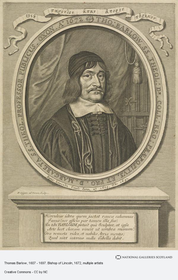 David Loggan, Thomas Barlow, 1607 - 1697. Bishop of Lincoln