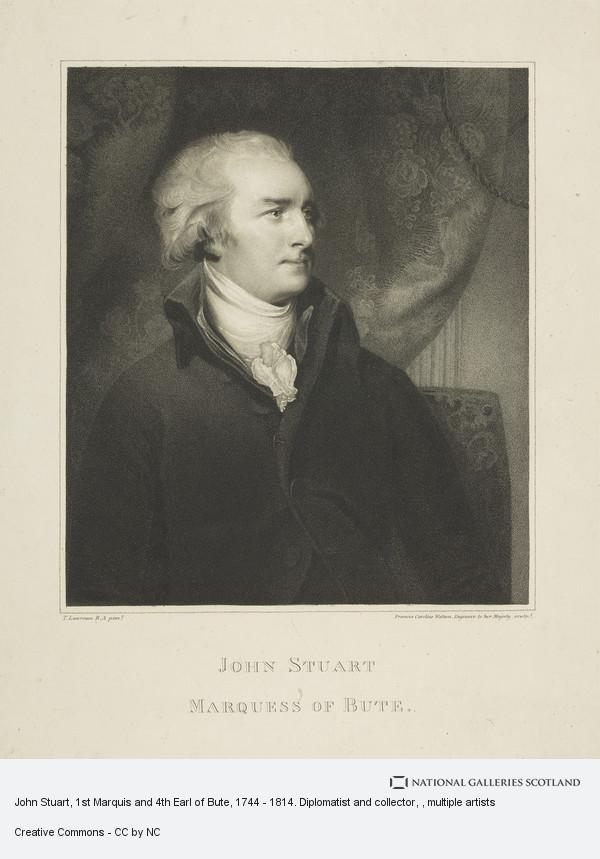 Caroline Watson, John Stuart, 1st Marquis and 4th Earl of Bute, 1744 - 1814. Diplomatist and collector