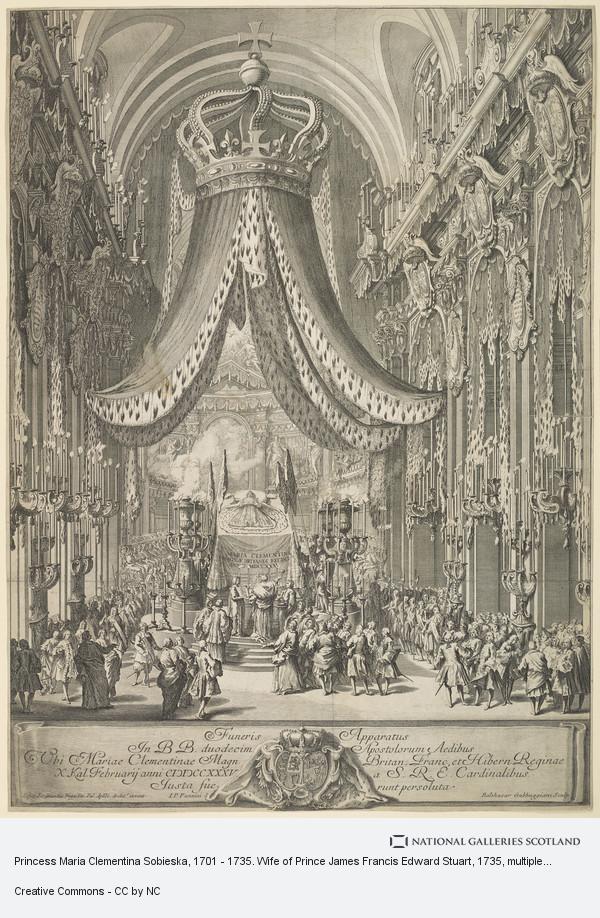 Balthasar Gabbuggiani, Princess Maria Clementina Sobieska, 1702 - 1735. Wife of Prince James Francis Edward Stuart