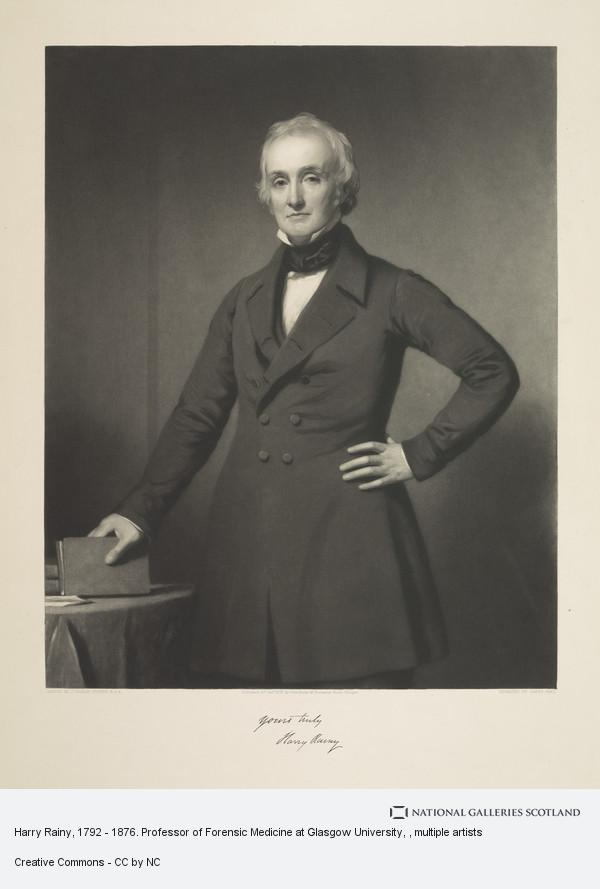 James Faed, Harry Rainy, 1792 - 1876. Professor of Forensic Medicine at Glasgow University