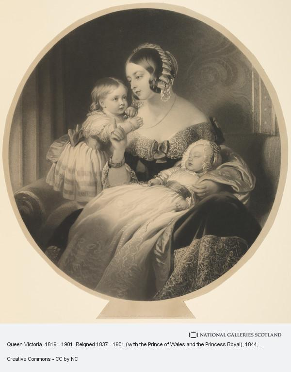 Samuel Cousins, Queen Victoria, 1819 - 1901. Reigned 1837 - 1901 (with the Prince of Wales and the Princess Royal)
