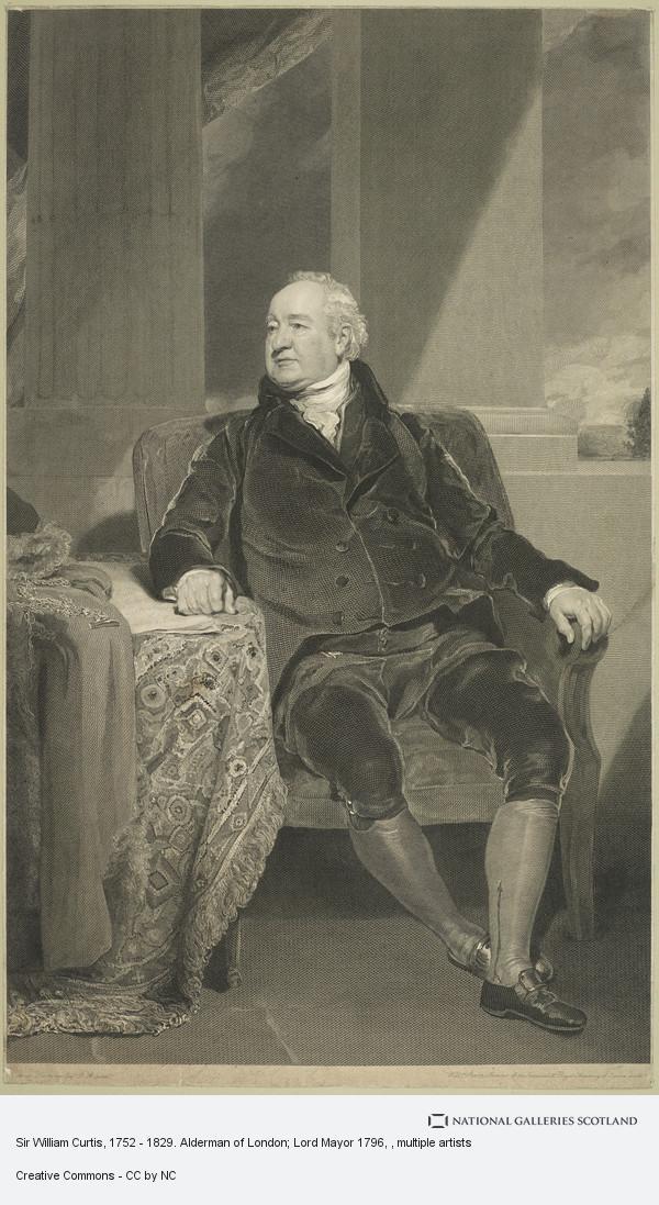 William Sharp, Sir William Curtis, 1752 - 1829. Alderman of London; Lord Mayor 1796