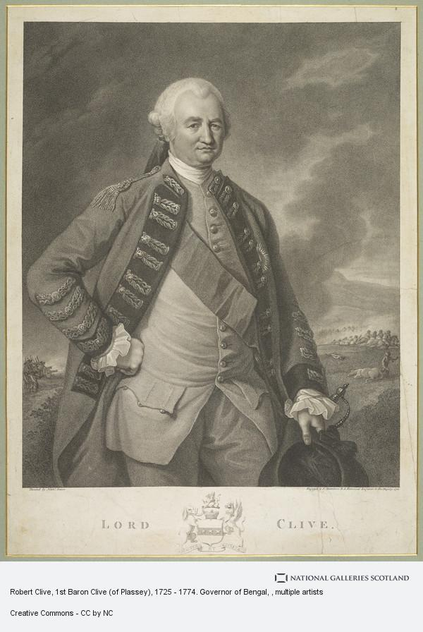 Francesco Bartolozzi, Robert Clive, 1st Baron Clive (of Plassey), 1725 - 1774. Governor of Bengal