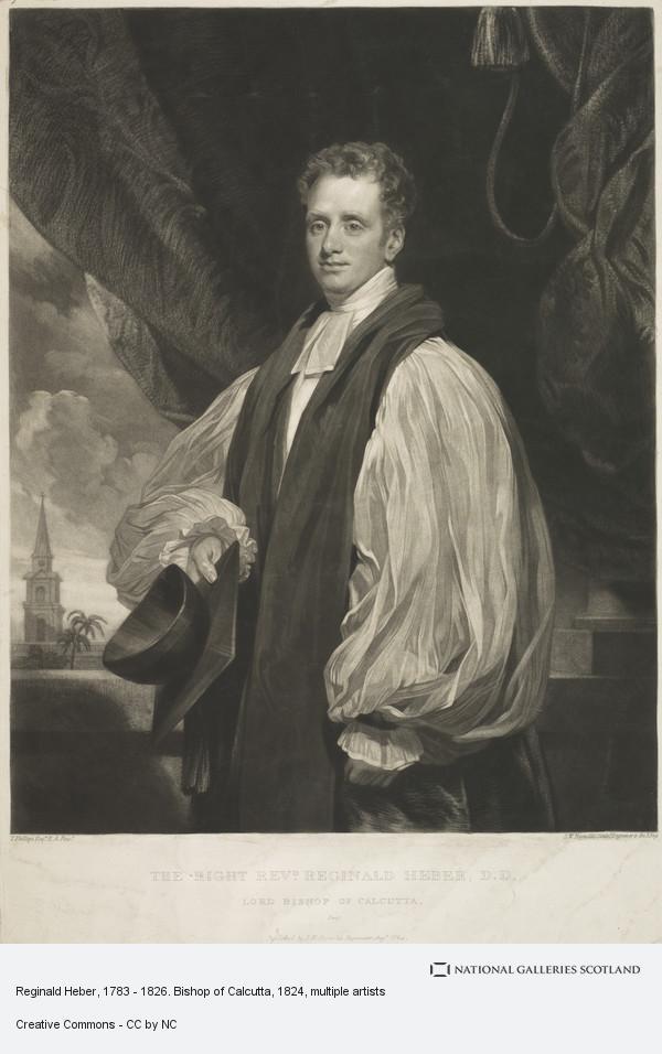 Samuel William Reynolds, Reginald Heber, 1783 - 1826. Bishop of Calcutta