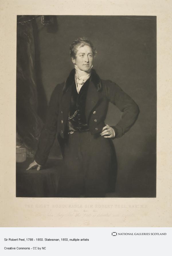 Samuel Cousins, Sir Robert Peel, 1788 - 1850. Statesman