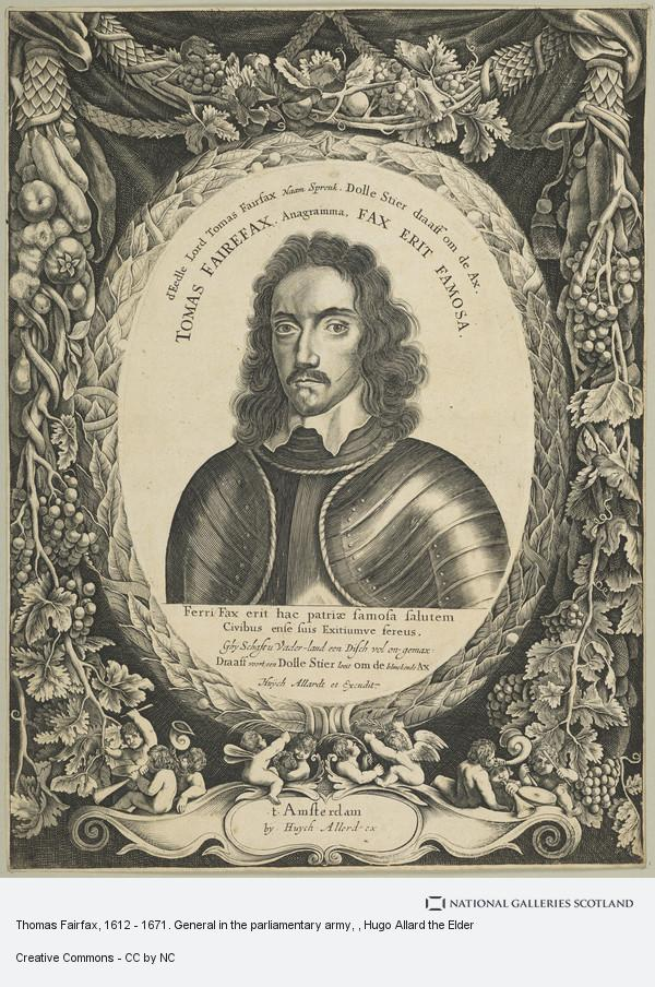 Hugo Allard the Elder, Thomas Fairfax, 1612 - 1671. General in the parliamentary army
