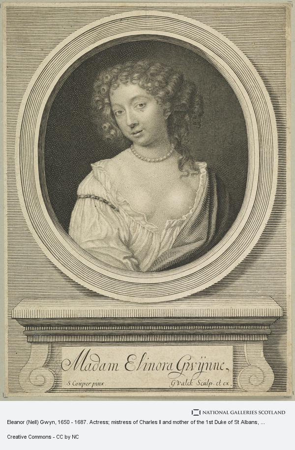 Gerrit Valck, Eleanor (Nell) Gwyn, 1650 - 1687. Actress; mistress of Charles II and mother of the 1st Duke of St Albans