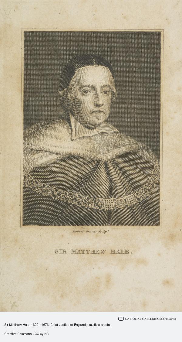 Robert Graves, Sir Matthew Hale, 1609 - 1676. Chief Justice of England