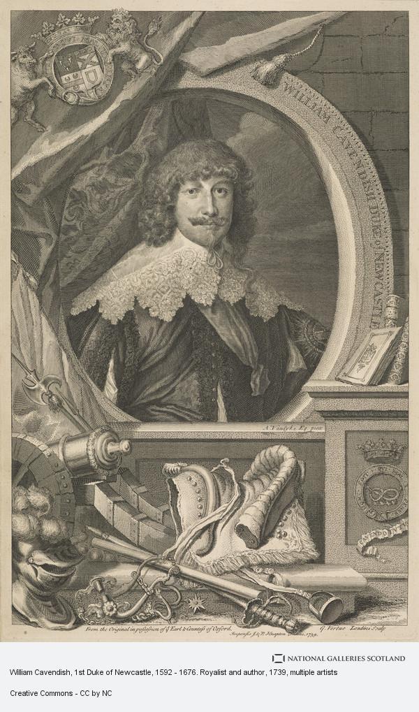 Sir Anthony van Dyck, William Cavendish, 1st Duke of Newcastle, 1592 - 1676. Royalist and author
