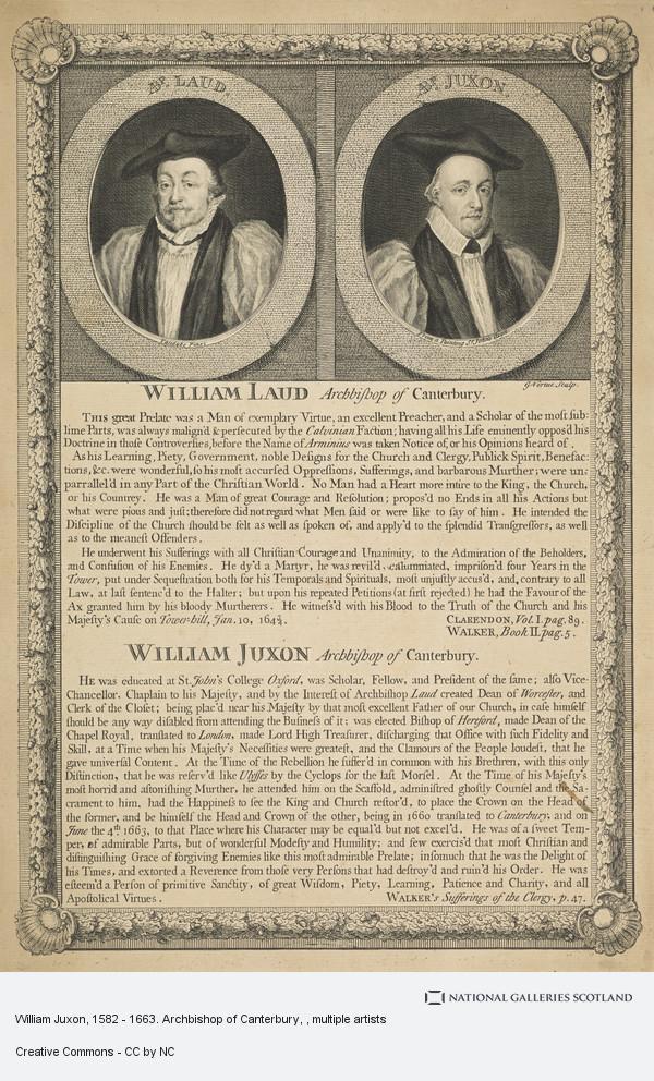 Sir Anthony van Dyck, William Juxon, 1582 - 1663. Archbishop of Canterbury