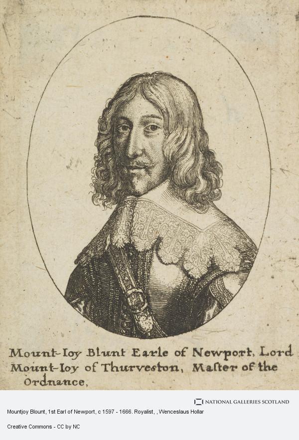 Wenceslaus Hollar, Mountjoy Blount, 1st Earl of Newport, c 1597 - 1666. Royalist