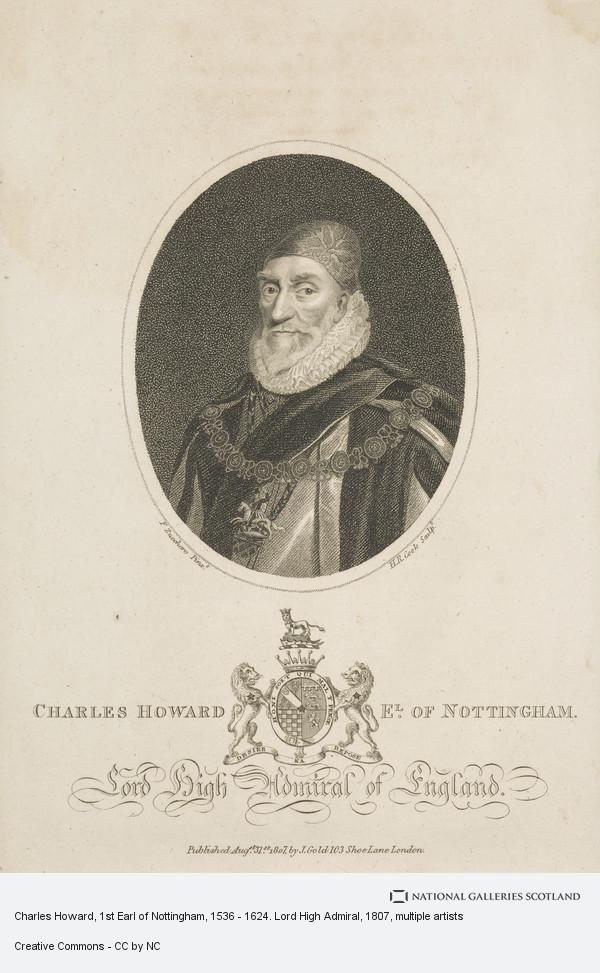 Henry Richard Cook, Charles Howard, 1st Earl of Nottingham, 1536 - 1624. Lord High Admiral