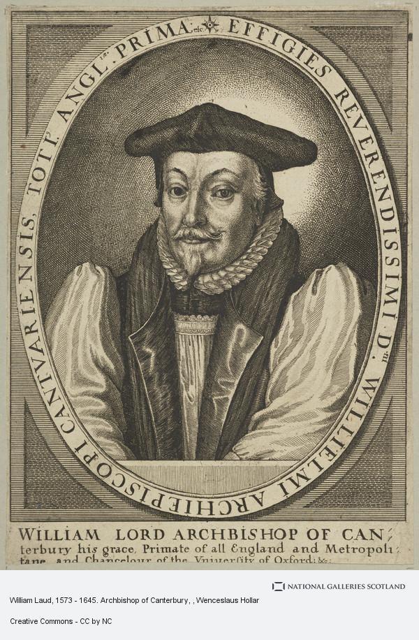 Wenceslaus Hollar, William Laud, 1573 - 1645. Archbishop of Canterbury