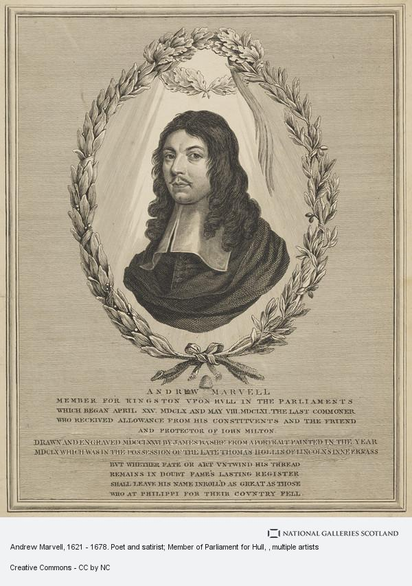 James Basire, Andrew Marvell, 1621 - 1678. Poet and satirist; Member of Parliament for Hull