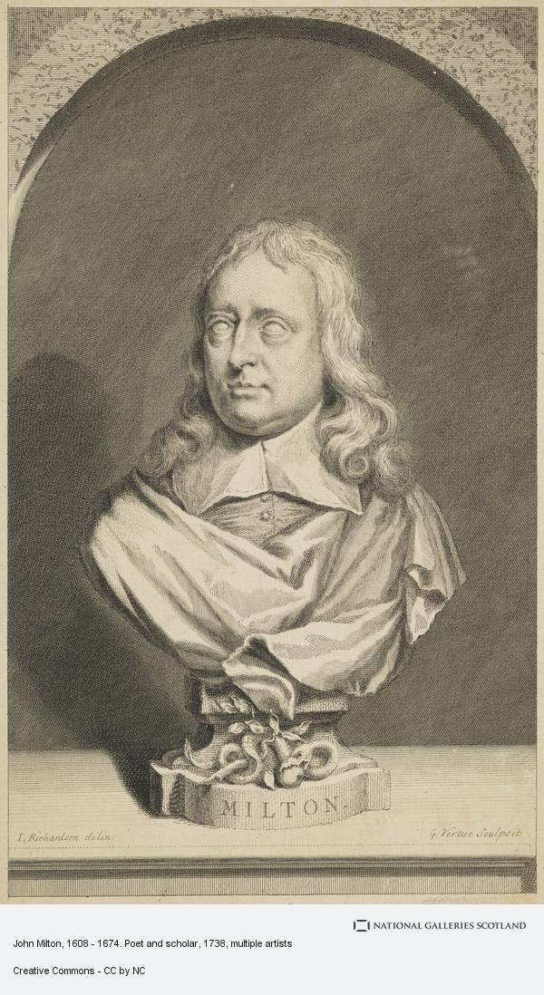 Jonathan Richardson, John Milton, 1608 - 1674. Poet and scholar