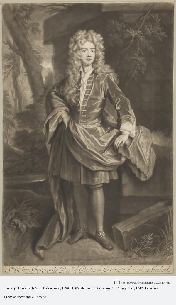 Johannes Faber, The Right Honourable Sir John Perceval, 1629 - 1665. Member of Parliament for County Cork