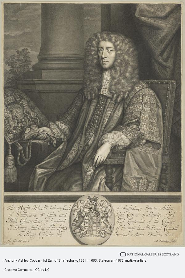 Abraham Blooteling, Anthony Ashley-Cooper, 1st Earl of Shaftesbury, 1621 - 1683. Statesman