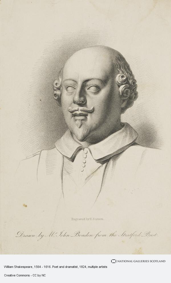 Edward Scriven, William Shakespeare, 1564 - 1616. Poet and dramatist