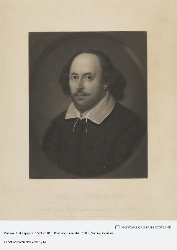 Samuel Cousins, William Shakespeare, 1564 - 1616. Poet and dramatist