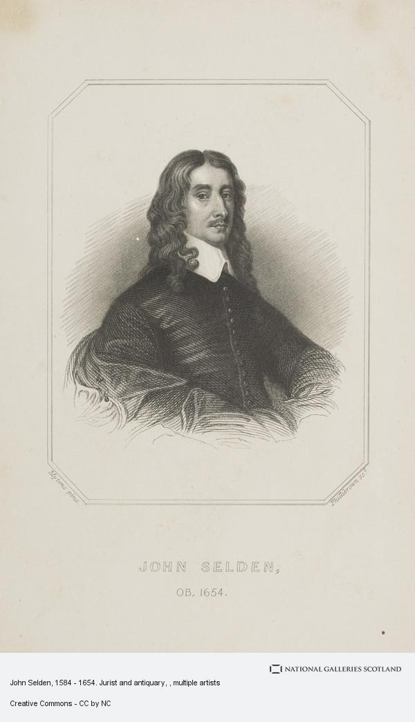 Phillibrown, John Selden, 1584 - 1654. Jurist and antiquary