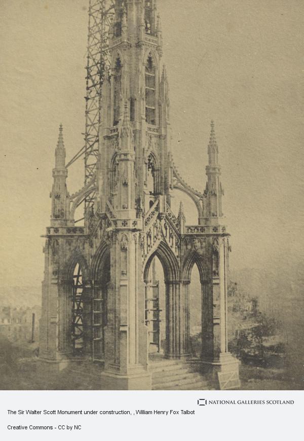 William Henry Fox Talbot, The Sir Walter Scott monument under contruction