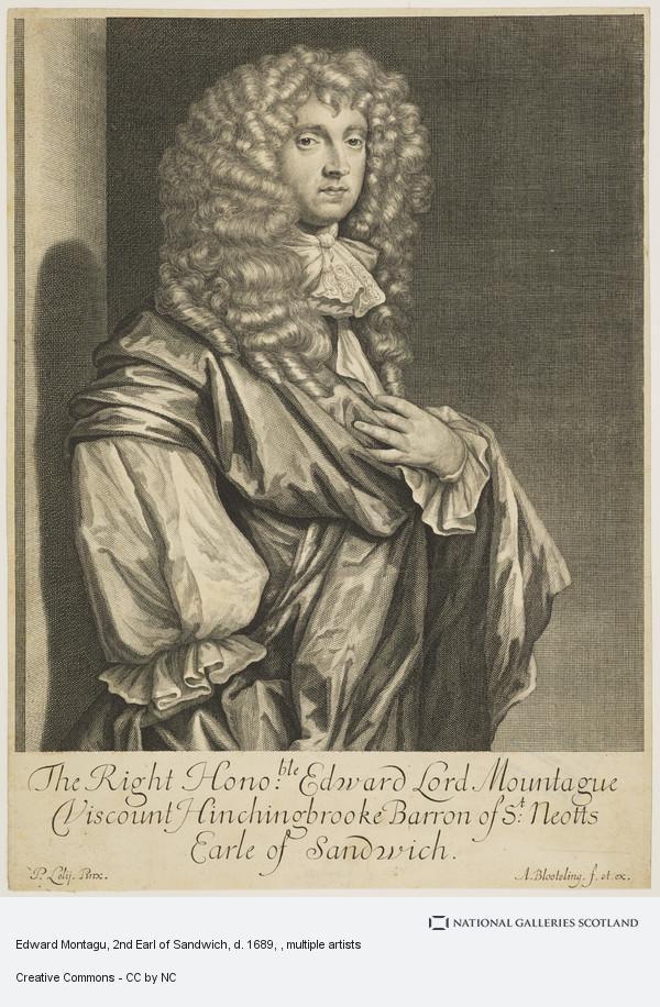 Abraham Blooteling, Edward Montagu, 2nd Earl of Sandwich, d. 1689
