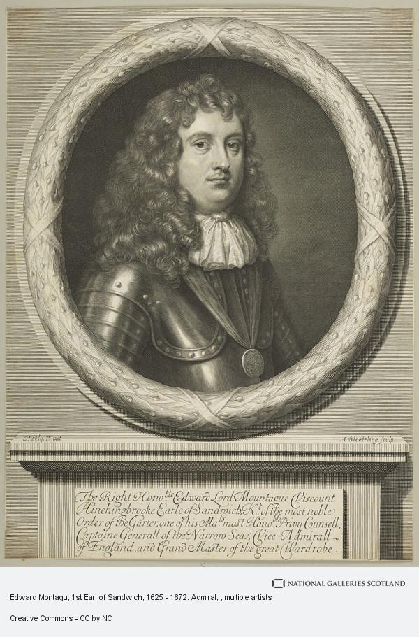 Abraham Blooteling, Edward Montagu, 1st Earl of Sandwich, 1625 - 1672. Admiral