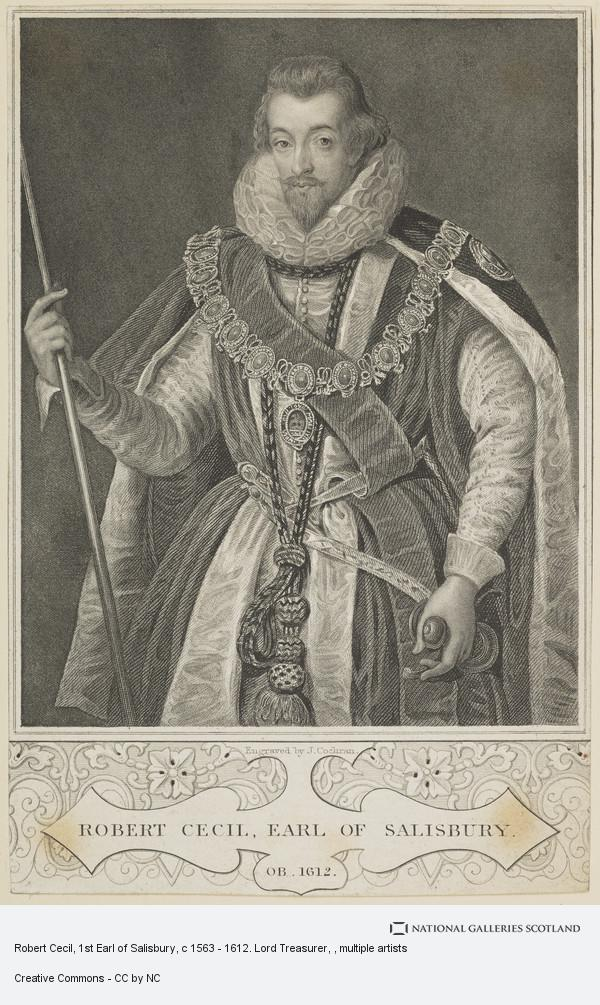 John Cochran, Robert Cecil, 1st Earl of Salisbury, c 1563 - 1612. Lord Treasurer