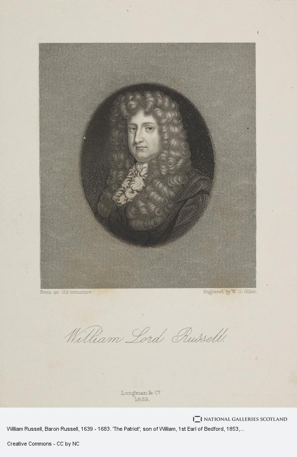 William Overend Geller, William Russell, Baron Russell, 1639 - 1683. 'The Patriot'; son of William, 1st Earl of Bedford