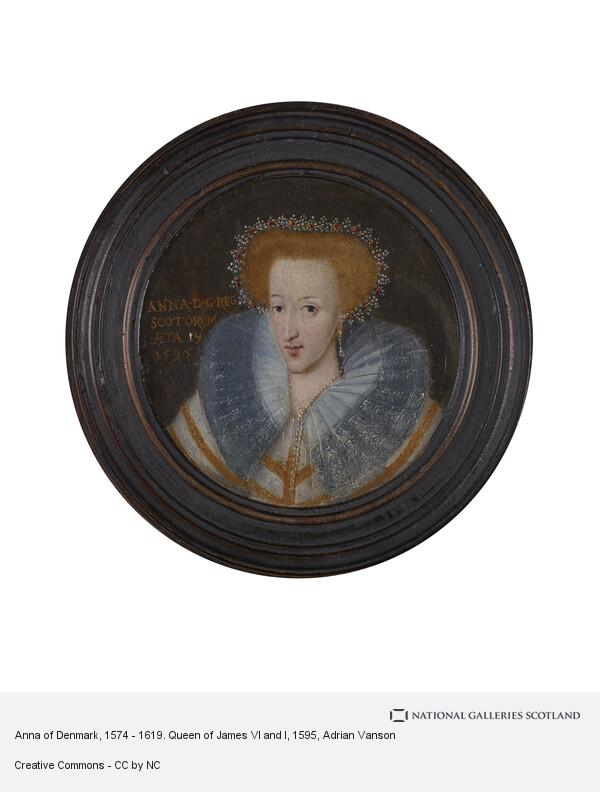 Adrian Vanson, Anne of Denmark, 1574 - 1619. Queen of James VI and I
