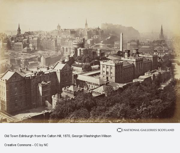 George Washington Wilson, Old Town Edinburgh from the Calton Hill (1870s)