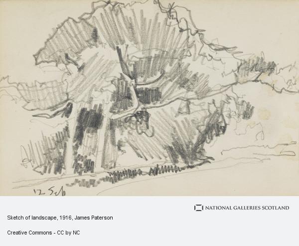 sketch of landscape national galleries of scotland