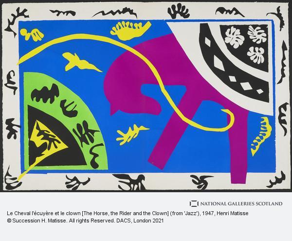 Henri Matisse, Le Cheval l'écuyère et le clown [The Horse, the Rider and the Clown]