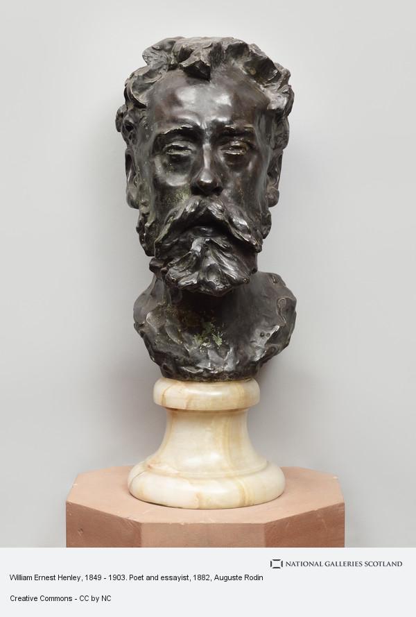 Auguste Rodin, William Ernest Henley, 1849 - 1903. Poet and essayist