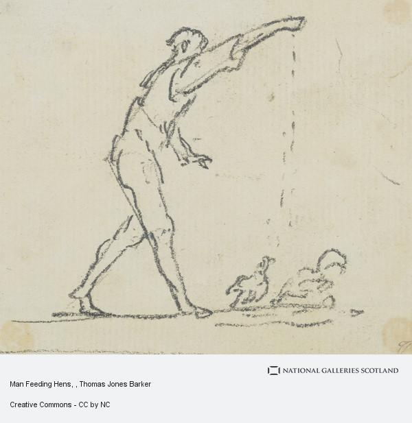 Thomas Jones Barker, Man Feeding Hens