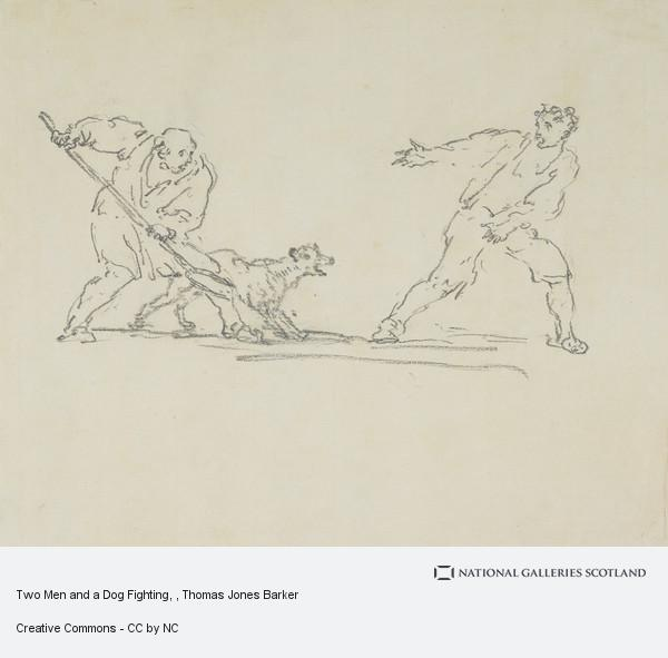 Thomas Jones Barker, Two Men and a Dog Fighting