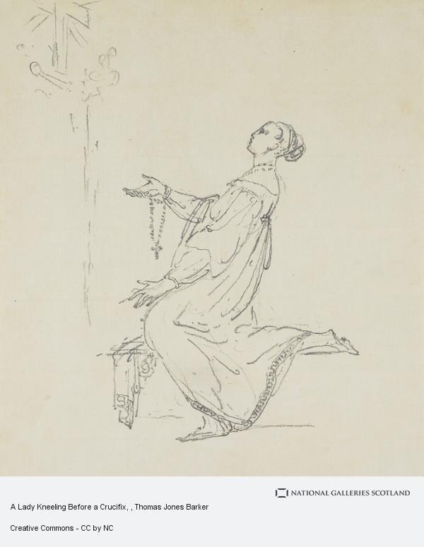 Thomas Jones Barker, A Lady Kneeling Before a Crucifix