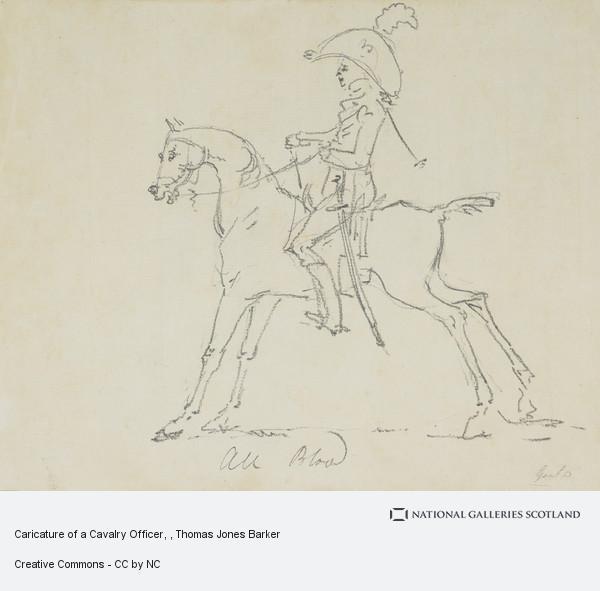 Thomas Jones Barker, Caricature of a Cavalry Officer