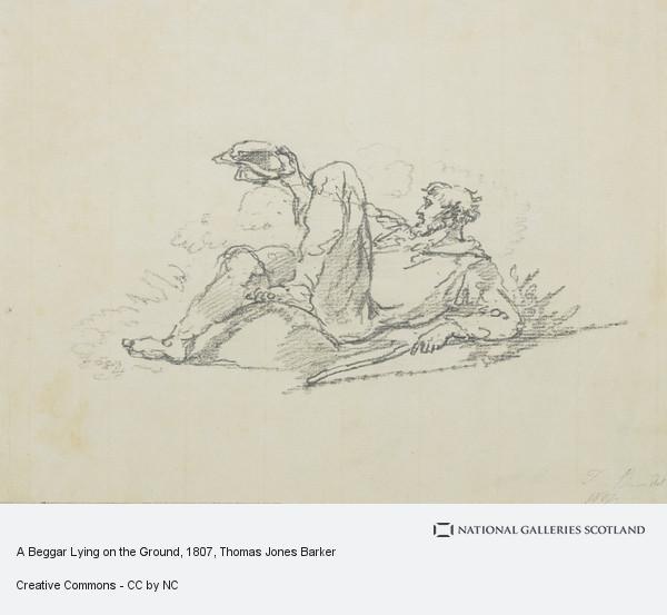 Thomas Jones Barker, A Beggar Lying on the Ground