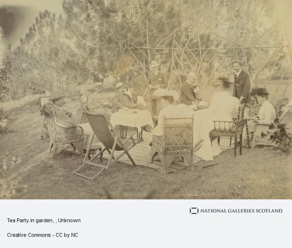 Unknown, Tea Party in garden