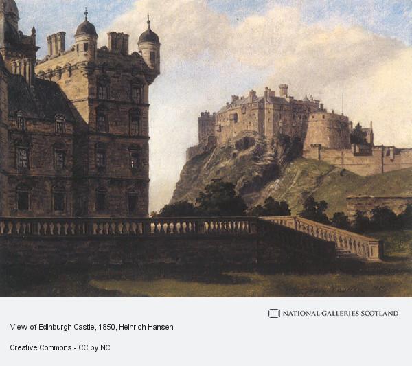 Heinrich Hansen, View of Edinburgh Castle