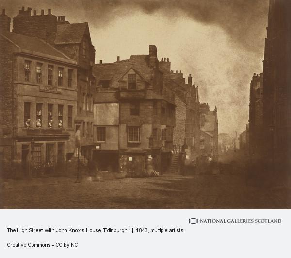 David Octavius Hill, The High Street with John Knox's House [Edinburgh 1]