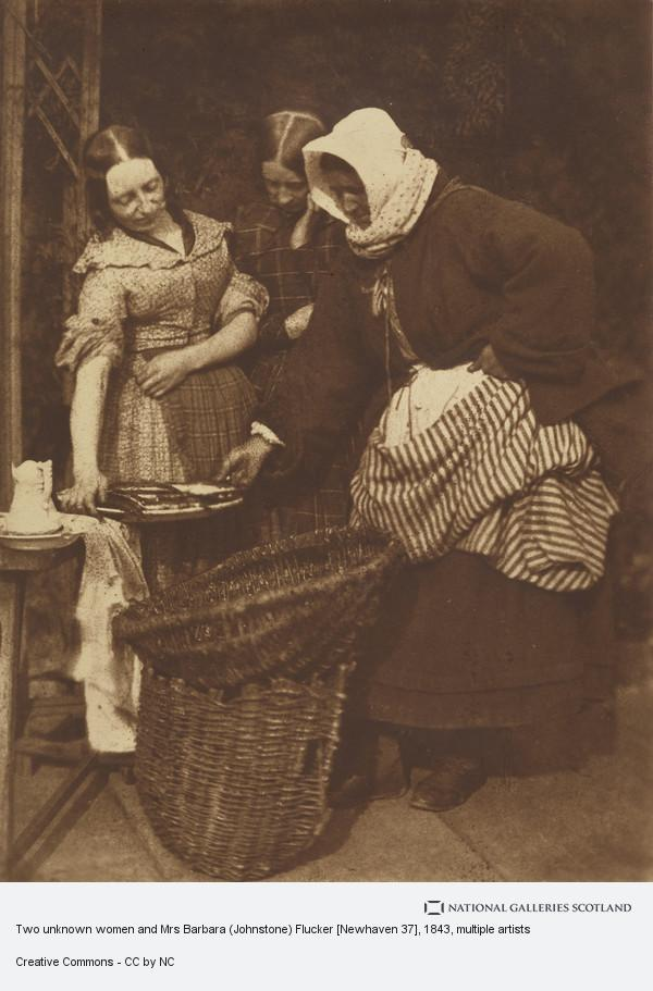 David Octavius Hill, Two unknown women and Mrs Barbara (Johnstone) Flucker[Newhaven 37]
